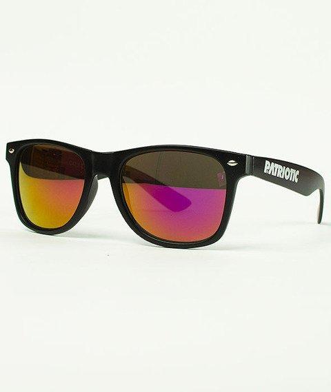 Patriotic-Futura Połysk Classic Okulary Czarne/Fioletowe
