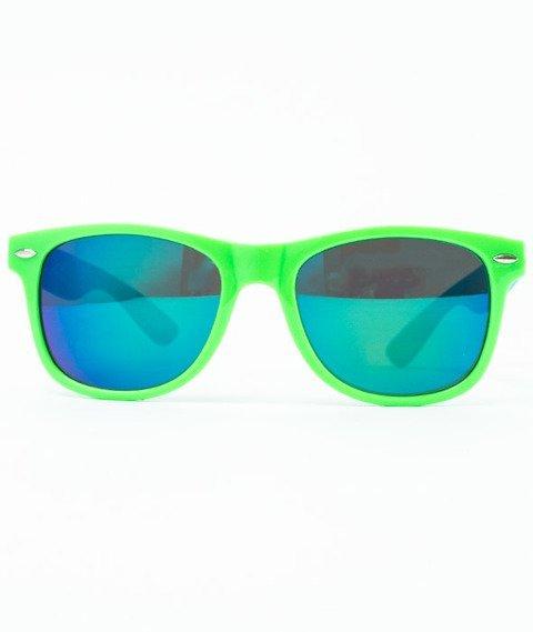 Patriotic-Futura Połysk Okulary Zielone/Niebieskie/Niebieskie