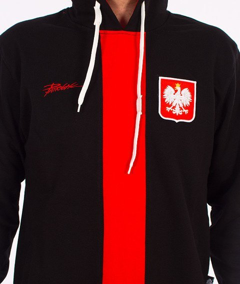 Patriotic-Godło Tag Bluza z Kapturem Czarna