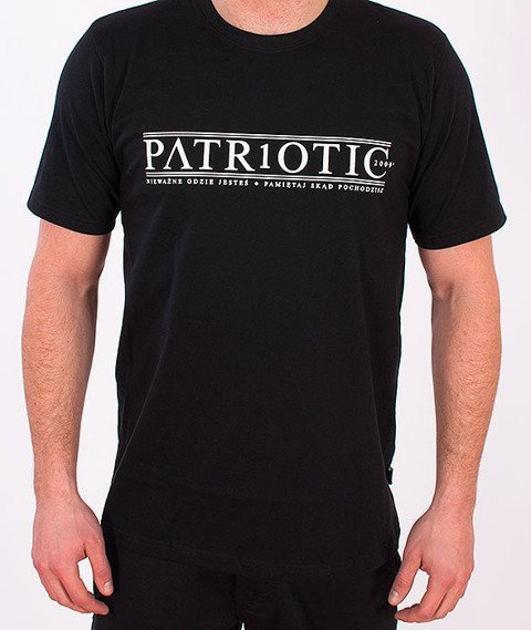 Patriotic-Greek T-shirt Czarny