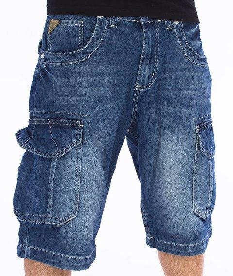 Pit Bull West Coast-Knee Spodnie Krótkie Jeans Średnie Spranie