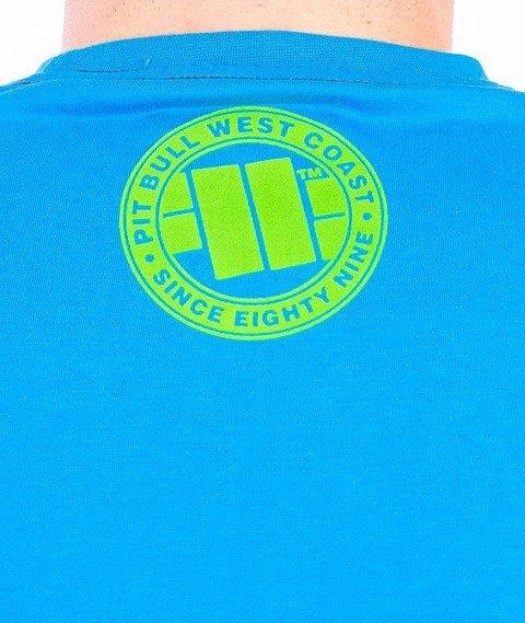 Pit Bull West Coast-Raster Logo T-Shirt Blue