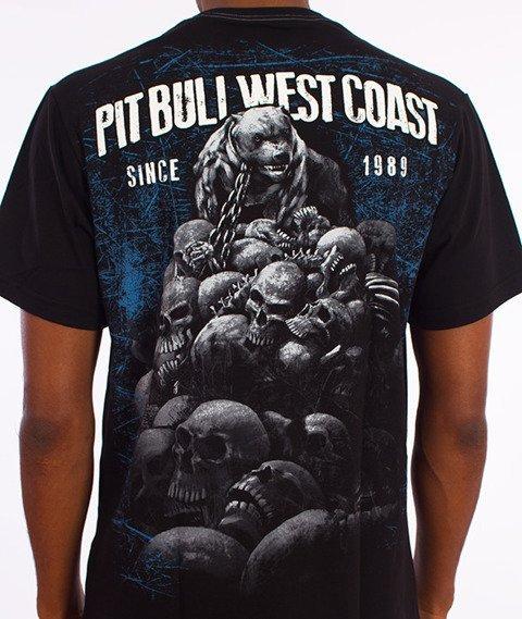 Pit Bull West Coast-Skull Dog T-Shirt Czarny