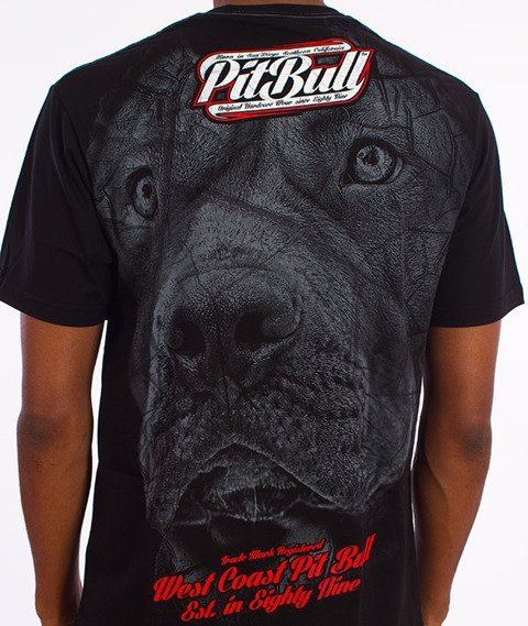 Pit Bull West Coast-Stamp T-Shirt Czarny