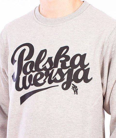 Polska Wersja-Polska Wersja Bluza Szara