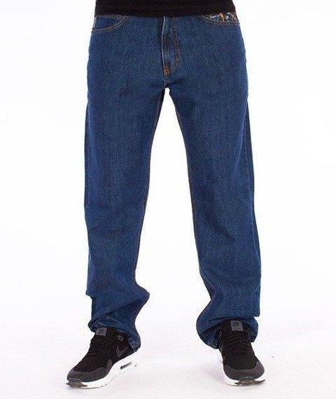 SmokeStory-Dark City Parts Regular Jeans Medium Blue
