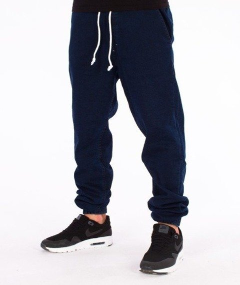 SmokeStory-Jogger Jeans Regular Gumka Medium Blue