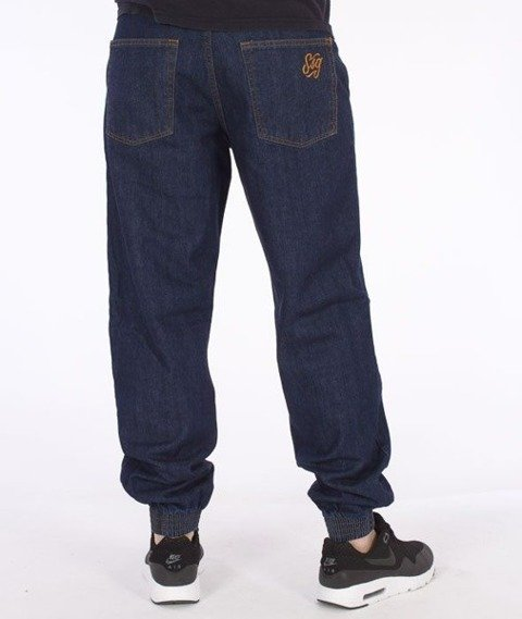 SmokeStory-Jogger Regular SSG Tag Dark Blue