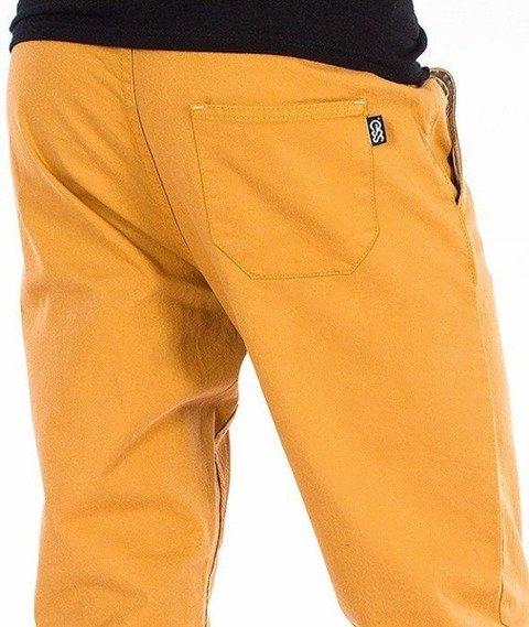 SmokeStory-Jogger Slim Klasyk Spodnie Miodowe