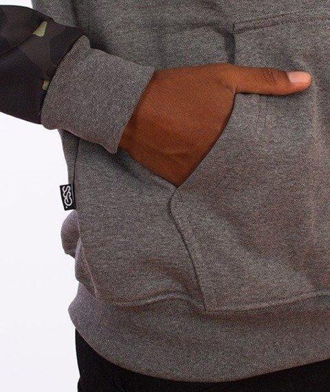 SmokeStory-Moro Sleeves Bluza Kaptur Grafitowa