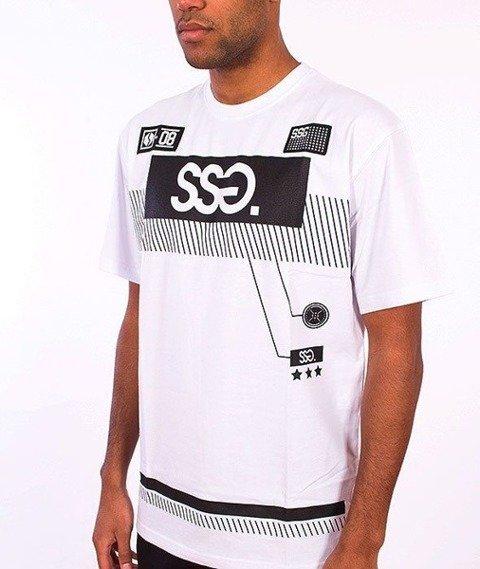 SmokeStory-Multi Lines T-Shirt Biały
