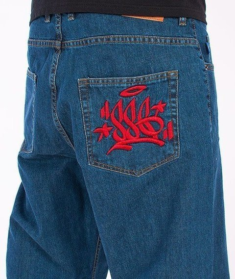 SmokeStory-Tag Baggy Jeans Medium Blue