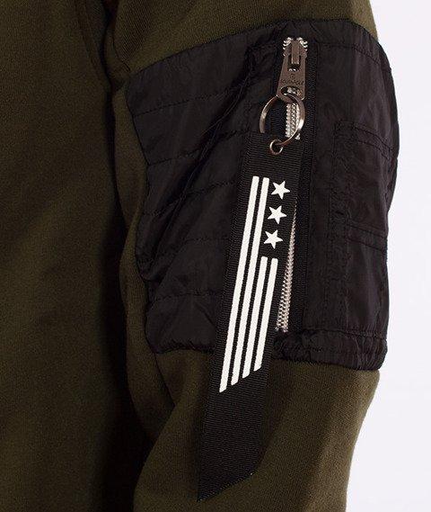 Southpole-Hoody Zip Bluza Kaptur Oliwkowa