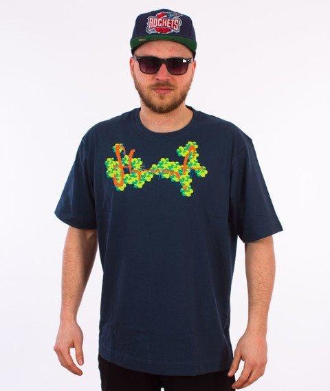 Stoprocent-Arcade Tag T-Shirt Granatowy