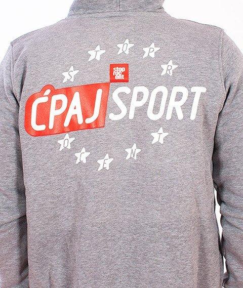 Stoprocent-BMS Ćpaj Sport Bluza Zip Szara