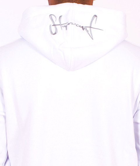 Stoprocent-BMS Hoodtag16 Bluza Zip White