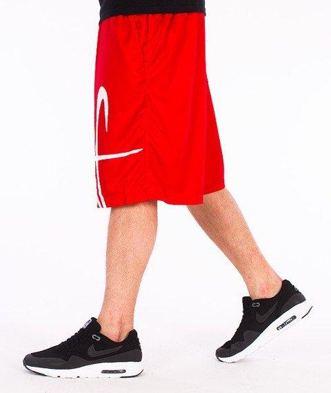 Stoprocent-Frontag Spodnie Krótkie Czerwone