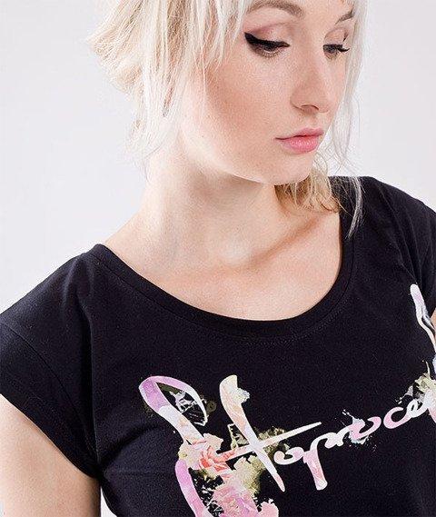 Stoprocent-Pastel T-Shirt Damski Czarny