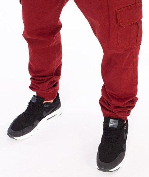 Stoprocent-SJ Jogger Army17 Spodnie Bordo