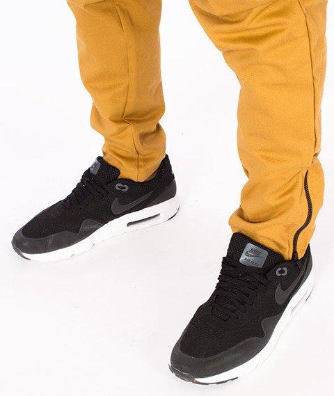Stoprocent-SJ Jogger Zip Spodnie Miodowe