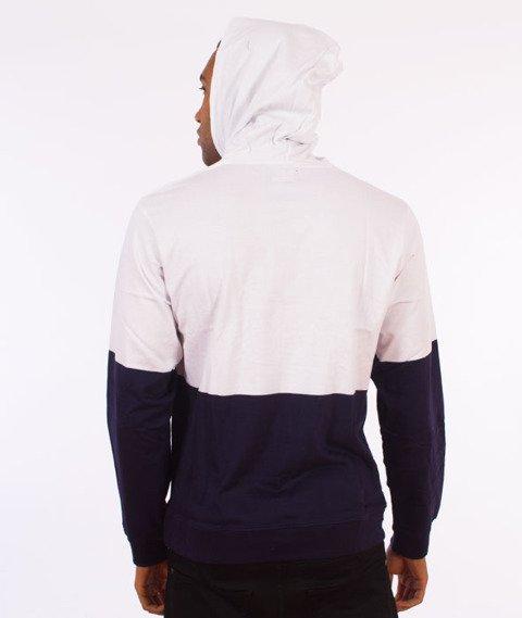 Stussy-Block Hooded Jersey Bluza Kaptur Navy
