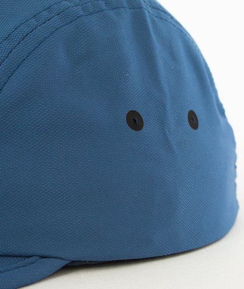 Stussy-Crushable Camp Cap 5 Panel Czapka Blue