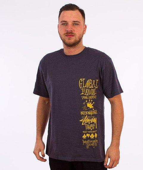 Stussy-Global Gathering T-Shirt Midnight