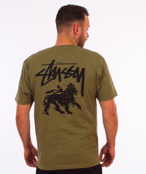 Stussy-Stock Lion T-Shirt Olive