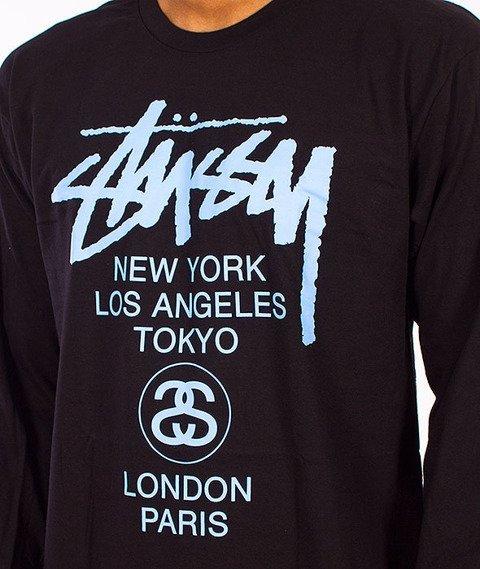 Stussy-World Tour Longsleeve Black/Blue