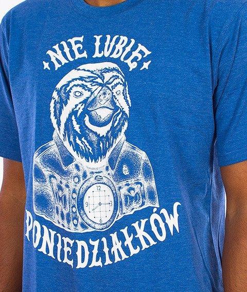 Tabasko-Nie Lubię T-Shirt Niebieski