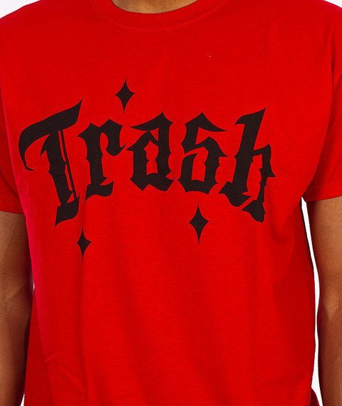 Trash-Fuck The World T-shirt Czerwony