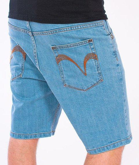 Turbokolor-Denim Shorts Light Blue SS16