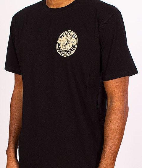 Turbokolor-Peace Out T-Shirt Black SS16
