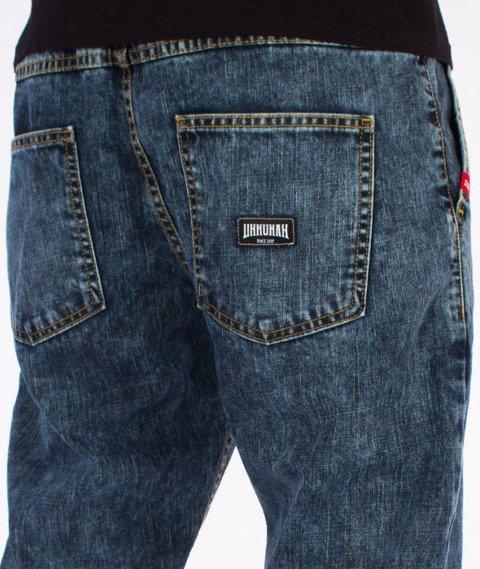 """Unhuman-""""U"""" Marmurki Jogger Jeans Spodnie Niebieskie"""