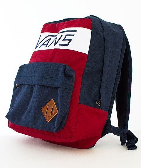 Vans-Old Skool Plus Backpack Rhubarb/Dress Blues