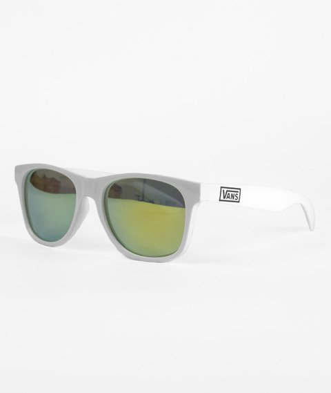 Vans-Spicoli 4 Shades Sunglasses White/Mirror Green