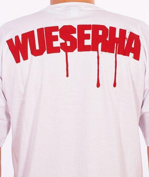 WSRH-Spray T-Shirt Biały/Czerwony