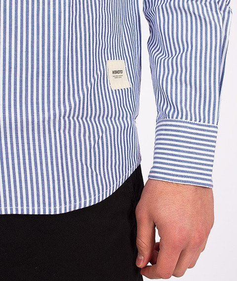 Wemoto-Santiago Shirt White/Navy Blue