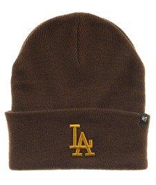 47 Brand-Los Angeles Dodgers Haymaker Mens Cuff Knit Czapka Zimowa Brązowa