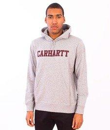 Carhartt-Hooded College Sweat Grey Heather/Cordovan
