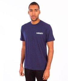 Carhartt WIP-College Script LT T-Shirt Blue/White