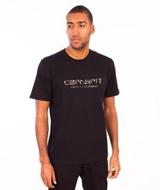 Carhartt WIP-WIP Script T-Shirt  Black/Camo Stain