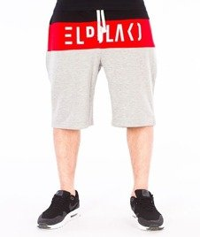 El Polako-Cut Spodnie Krótkie Dresowe Szare