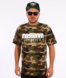 Mass-Classics T-shirt Woodland Camo