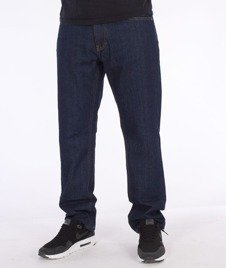 SmokeStory-Simple Slim Jeans Dark Blue