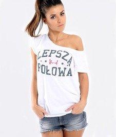 Stoprocent-Lepsza Połowa T-Shirt Damski Biały