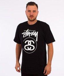 Stussy-Stock Link T-Shirt Czarny