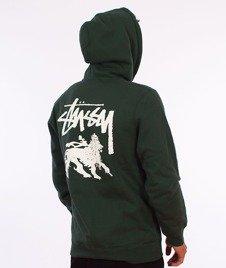 Stussy-Stock Lion Hood Bluza Kaptur Dark Forest