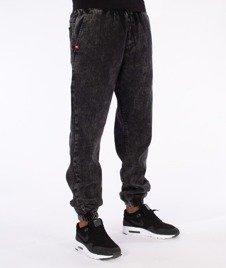 "Unhuman-""U"" Marmurki Jogger Jeans Spodnie Czarne"