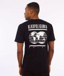Alkopoligamia-Glob T-Shirt Czarny